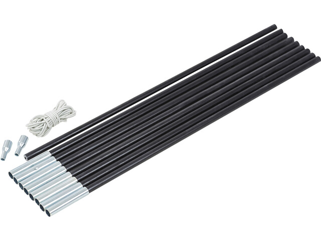 CAMPZ Glasfaser Zeltstangen Set 11mm x 4,55m schwarz